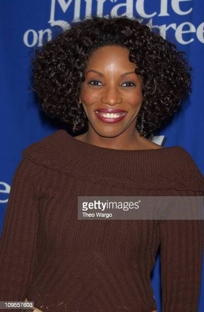 Stephanie Mills during KTU's Miracle on 34th Street Show Press Room at Madison Square Garden in New York City New York United States