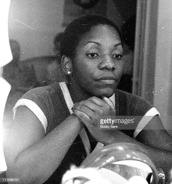 Stephanie Mills during Stephanie Mills Backstage from The Wiz on Broadway August 24 1976 in New York City New York United States