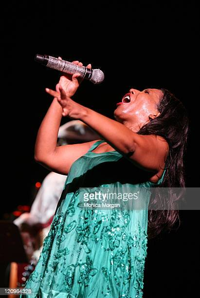 Stephanie Mills performs at Chene Park on July 11 2008 in Detroit