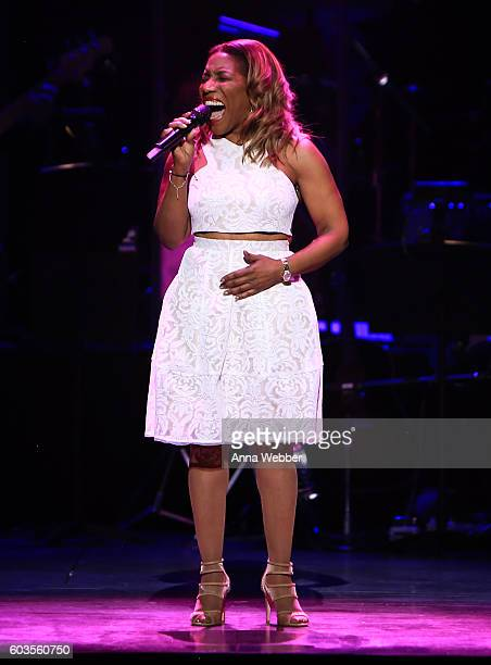 Stephanie Mills performs onstage at the 2nd Annual Voices For The Voiceless Stars For Foster Kids Benefit at the Al Hirschfeld Theatre on September...