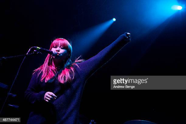 Stephanie Min of The History Of Apple Pie performs on stage at O2 Academy on December 18 2013 in Leeds United Kingdom