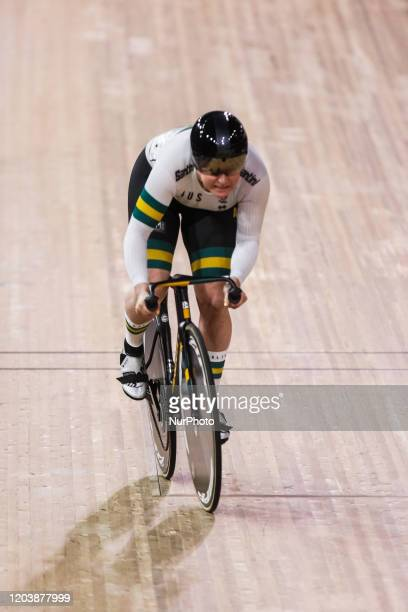 Stephanie Morton sprint during the UCI 2020 Track Cycling World Championships Berlin 2020 in Berlin Germany on February 27 2020