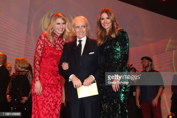 Stephanie MuellerSpirra Jose Carreras and Mareile Hoeppner during the 25th annual Jose Carreras Gala final applause on December 12 2019 at Messe...