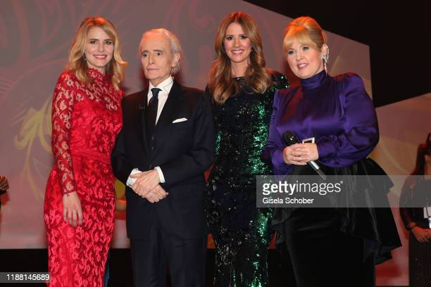 Stephanie MuellerSpirra Jose Carreras Mareile Hoeppner and Maite Kelly during the 25th annual Jose Carreras Gala final applause on December 12 2019...