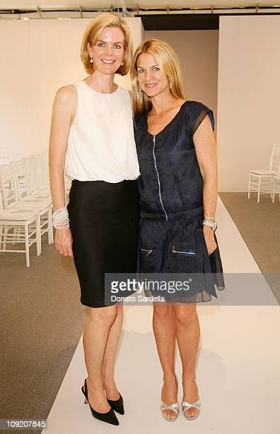 Stephanie Murray and Crystal Lourd inside the Couture Cares exclusive Nina Ricci fashion show and luncheon to benefit Revlon/UCLA sponsored by Neiman...