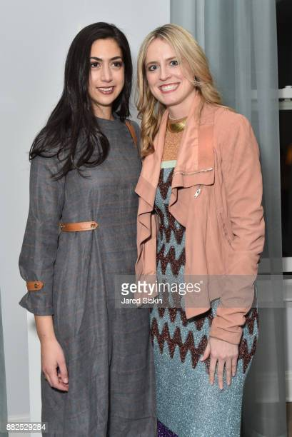 Stephanie Nass and Anne Huntington attend AVENUE celebrates the 'Not It' Girls of the Art World on November 29 2017 at 101 West 78th Street in New...
