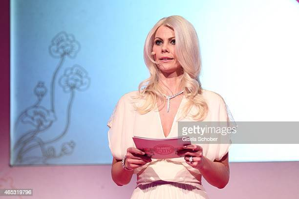 Stephanie Neureuter, Beauty Director GLAMOUR Germany during the Glammy Award 2015 at Schlafwagenfabrik on March 5, 2015 in Munich, Germany.