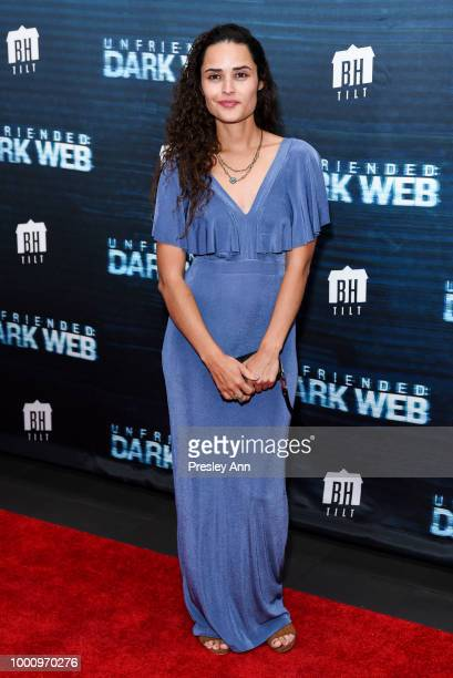 Lori Denil and Guest attend the premiere of Blumhouse Productions and Universal Pictures' 'Unfriended Dark Web' at LA LIVE on July 17 2018 in Los...