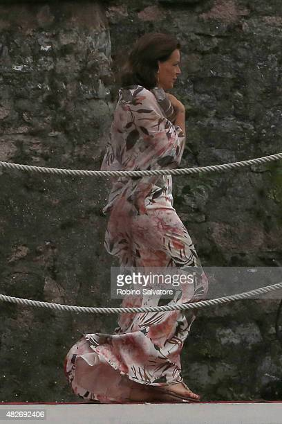 Stephanie of Monaco sighting during Pierre Casiraghi and Beatrice Borromeo Wedding during Pierre Casiraghi and Beatrice Borromeo Wedding on August 1,...
