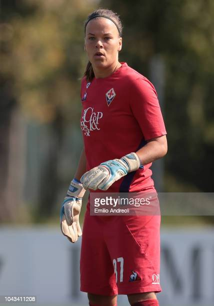 Stephanie Ohrstrom of Fiorentina Women's FC looks on during the Serie A match between AC Milan Women and Fiorentina Women at Campo Sportivo Vismara...