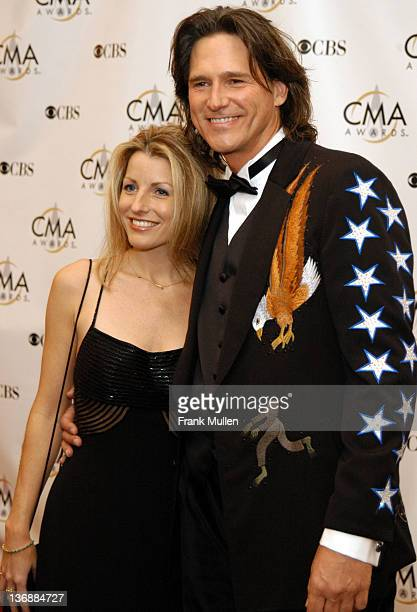Stephanie Paisley and Billy Dean during 37th Annual CMA Awards Arrivals at The Grand Ole Opry in Nashville TN United States