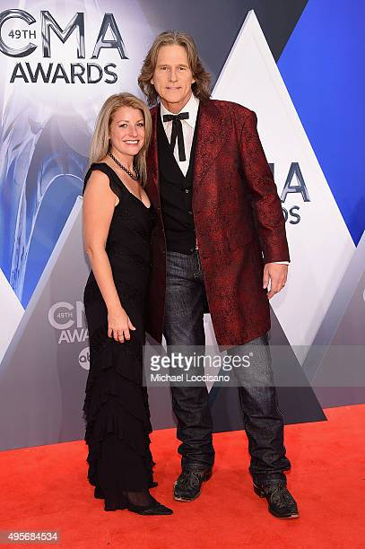 Stephanie Paisley and singer Billy Dean attend the 49th annual CMA Awards at the Bridgestone Arena on November 4 2015 in Nashville Tennessee