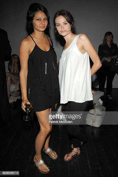 Stephanie Pappas and Kristina Ratliff attend Michael Shvo and Mark Seliger host BLUR THE LINE at WHITE SPACE A GLOBAL ADDRESS at White Space on June...