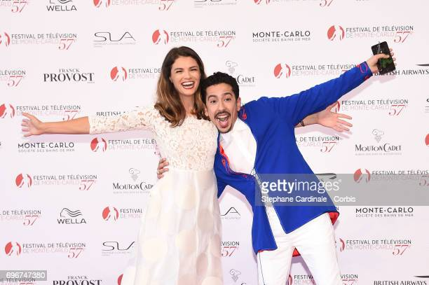 Stephanie Pasterkamp and Faycal Azizi attend the 57th Monte Carlo TV Festival Opening Ceremony on June 16, 2017 in Monte-Carlo, Monaco.