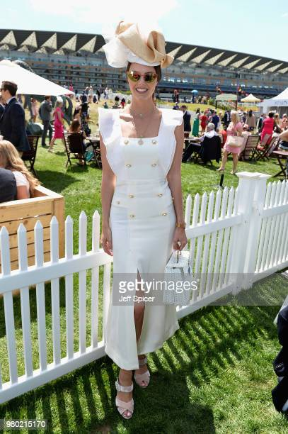Stephanie Peers attends day 3 of Royal Ascot at Ascot Racecourse on June 21 2018 in Ascot England