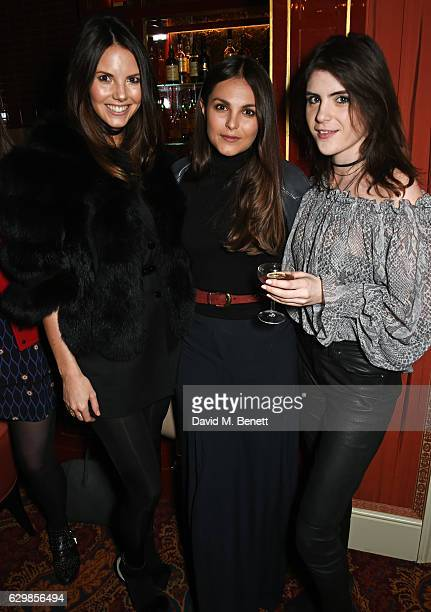 Stephanie Peers Holly Scarsella and Lexi Abrams attend the launch of the Baar Bass own brand collection at Mark's Club on December 14 2016 in London...