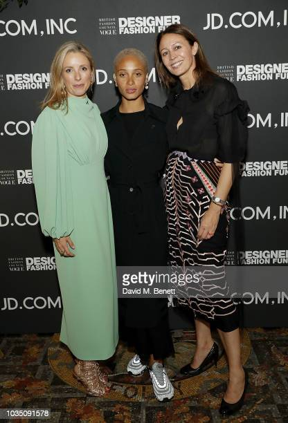 Stephanie Phair Adwoa Aboah and Caroline Rush attend the BFC/Vogue Designer Fashion Fund in partnership with JDcom Inc China's largest retailer with...