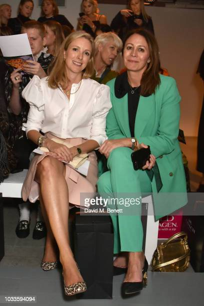 Stephanie Phair and Caroline Rush attend the Matty Bovan front row during London Fashion Week September 2018 at the BFC Show Space on September 14...