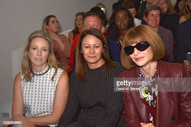Guests attend the Richard Quinn front row during London Fashion Week September 2018 at 180 The Strand on September 18 2018 in London England