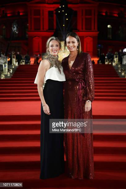 Stephanie Phair Chairman BFC Senior Staff and Caroline Rush CEO BFC Senior staff arrive at The Fashion Awards 2018 In Partnership With Swarovski at...