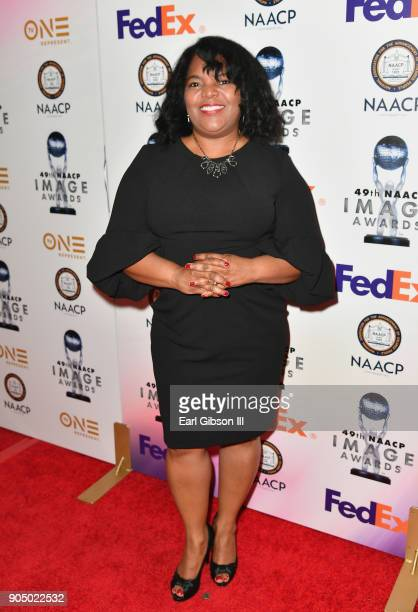 Stephanie Powell Watts at the 49th NAACP Image Awards NonTelevised Awards Dinner at the Pasadena Conference Center on January 14 2018 in Pasadena...