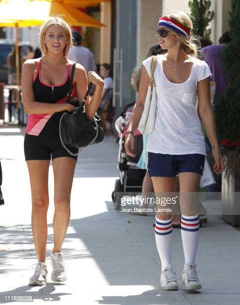Stephanie Pratt and Holly Montag sighting at Yogen Fruz on July 30 2009 in Los Angeles California