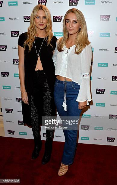 Stephanie Pratt and Tiffany Watson attend the Vlog Star launch party at The Ivy on September 2 2015 in London England
