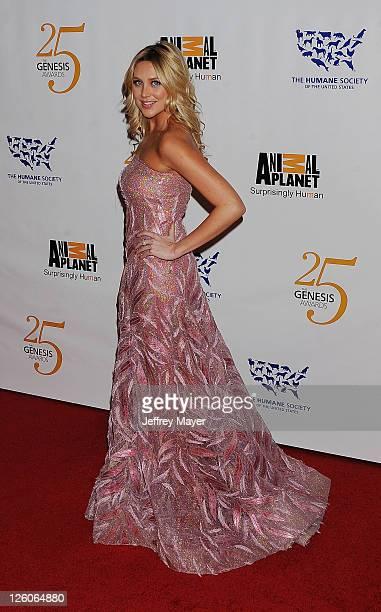 Stephanie Pratt arrives at The 25th Anniversary Genesis Awards at the Hyatt Regency Century Plaza on March 19 2011 in Century City California