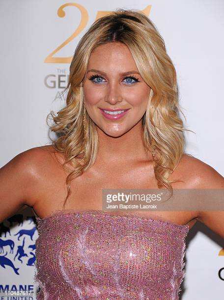 Stephanie Pratt arrives at the 25th Anniversary Genesis Awards hosted by the Humane Society of the United States held at the Hyatt Regency Century...