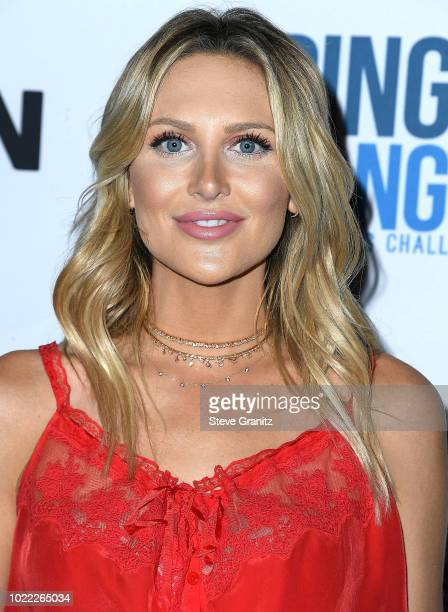 Stephanie Pratt arrives at the 6th Annual PingPong4Purpose at Dodger Stadium on August 23 2018 in Los Angeles California