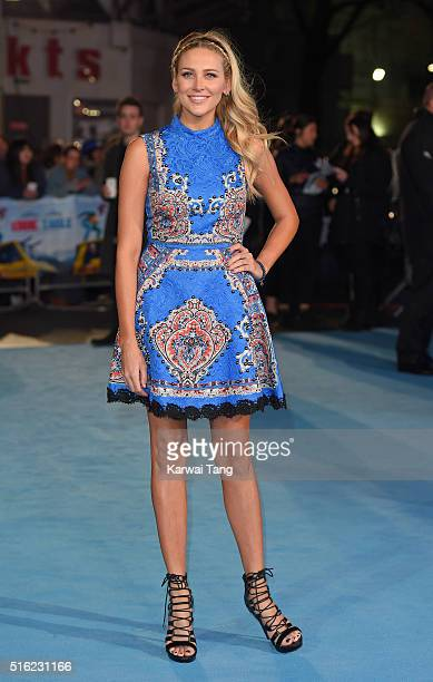 Stephanie Pratt arrives for the European premiere of 'Eddie The Eagle' at Odeon Leicester Square on March 17 2016 in London England