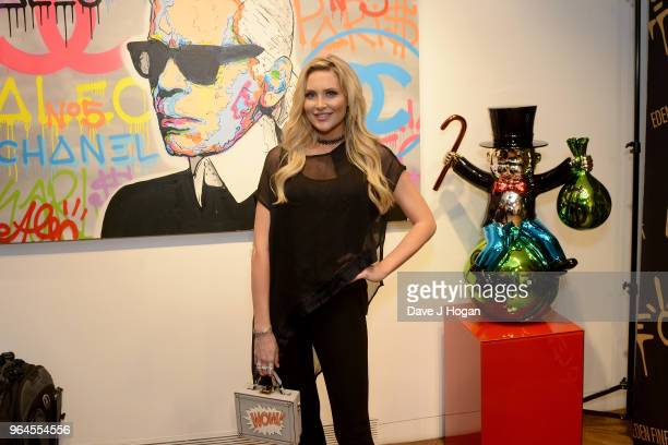 Stephanie Pratt attends Alec Monopoly's 'Breaking the Bank on Bond Street' exhibition launch party at the Eden Fine Art Gallery on May 31 2018 in...