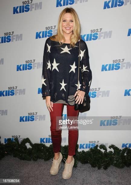 Stephanie Pratt attends KIIS FM's Jingle Ball 2012 at Nokia Theatre LA Live on December 3 2012 in Los Angeles California