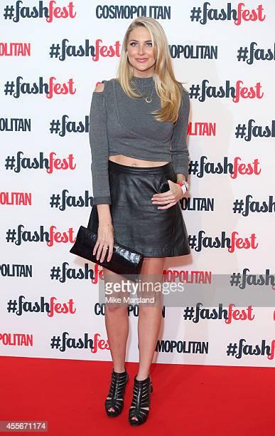 Stephanie Pratt attends the Cosmopolitan #FashFest event at Battersea Evolution on September 18 2014 in London England