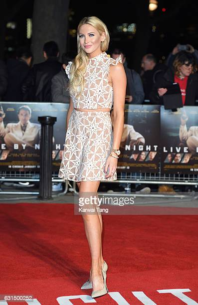 Stephanie Pratt attends the European Film Premiere of Live By Night at The BFI Southbank on January 11 2017 in London United Kingdom