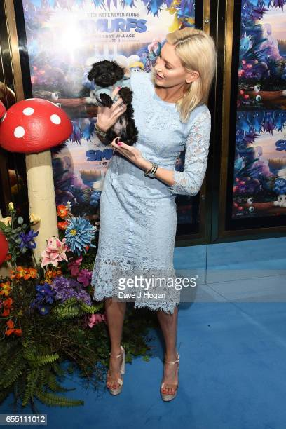 Stephanie Pratt attends the Gala Screening of 'Smurfs The Lost Village' at Cineworld Leicester Square on March 19 2017 in London England