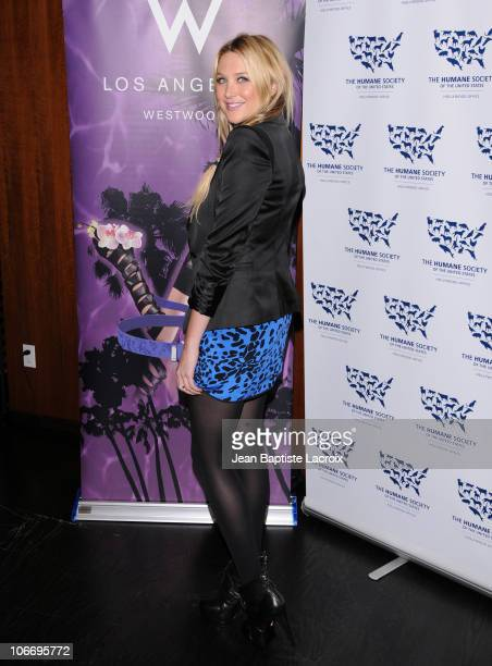 Stephanie Pratt attends the HSUS 'Rescue Paws' event at W Westwood on November 10 2010 in Westwood California