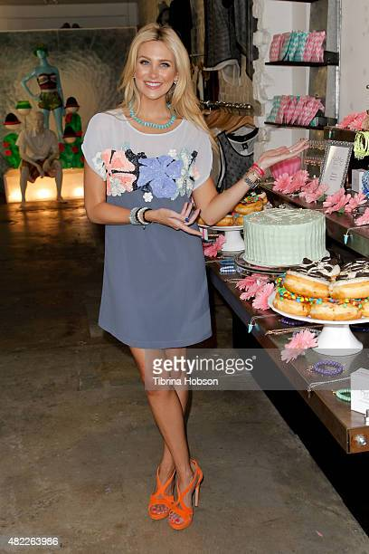 Stephanie Pratt attends the launch party for MeMe London at DiLascia on July 28 2015 in Los Angeles California