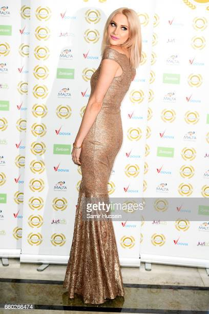Stephanie Pratt attends the National Film Awards at the Porchester Hall on March 29 2017 in London United Kingdom