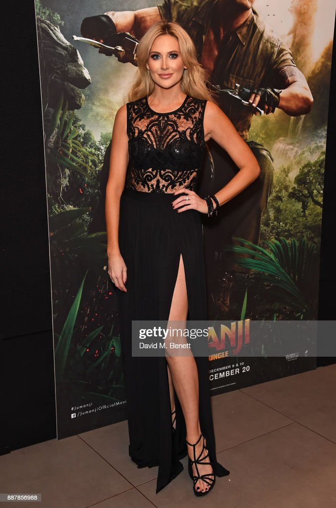 Stephanie Pratt attends the UK Premiere of 'Jumanji: Welcome To The Jungle' at Vue West End on December 7, 2017 in London, England.