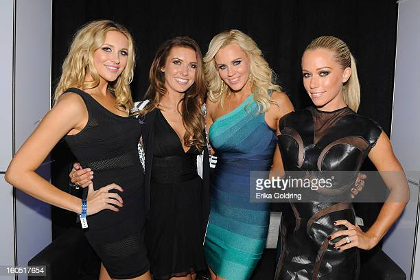 Stephanie Pratt Audrina Patridge Jenny McCarthy and Kendra Wilkinson host the Tenth Annual Leather Laces Super Bowl Party on February 1 2013 in New...