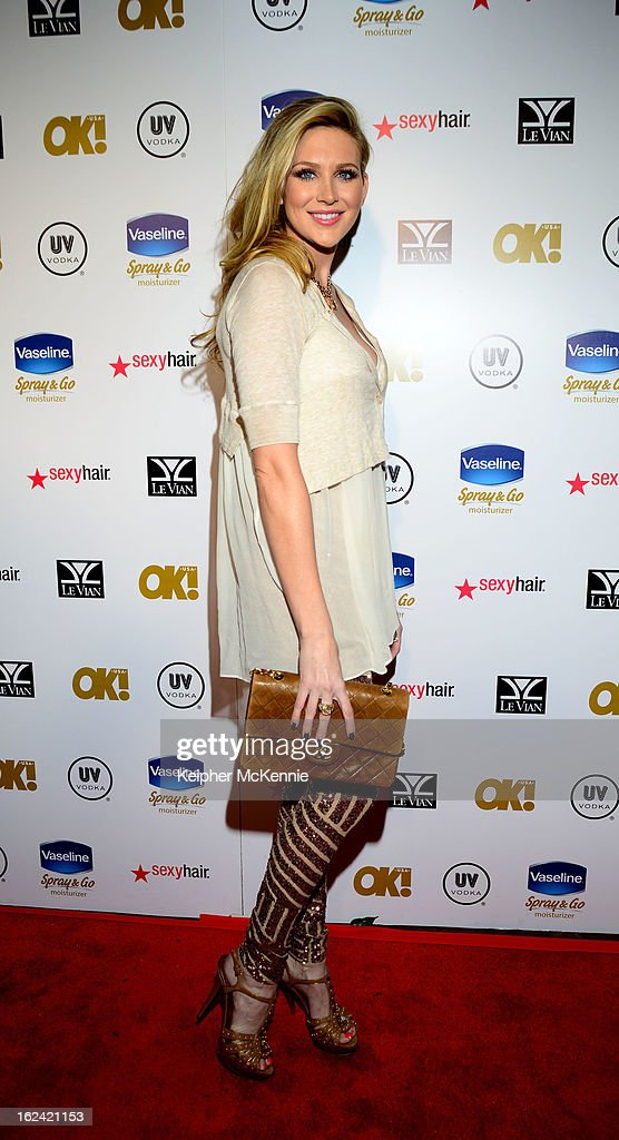 Stephanie Pratt steps on the red carpet at OK! Magazine Pre-Oscar Party at The Emerson Theatre on February 22, 2013 in Hollywood, California.