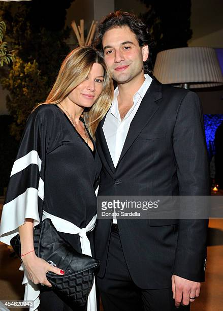 Stephanie Purcell Rodrigues and Alexander Purcell Rodrigues attend the VMT Veronica Toub launch dinner party at Neiman Marcus on December 9 2013 in...