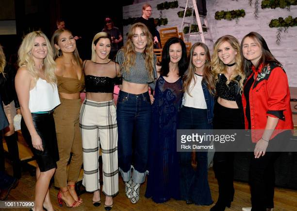 Stephanie Quayle Abby Anderson Cassadee Pope Ingrid Andress Senior Vice President of Music Strategy for CMT Leslie Fram Natalie Stovall and Erin...