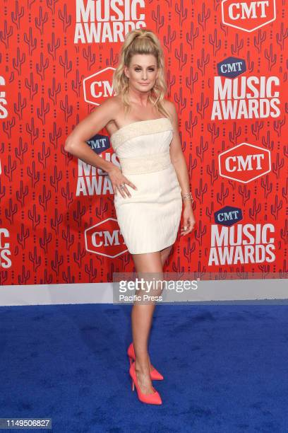 Stephanie Quayle attends the 2019 CMT Music Awards at the Bridgestone Arena in Nashville Tennessee