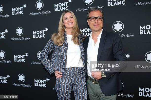 """Stephanie Radl, Head of Communications of Montblanc and CEO Montblanc Nicolas Baretzki attend the """"To Berlin and Beyond with Montblanc: Reconnect To..."""
