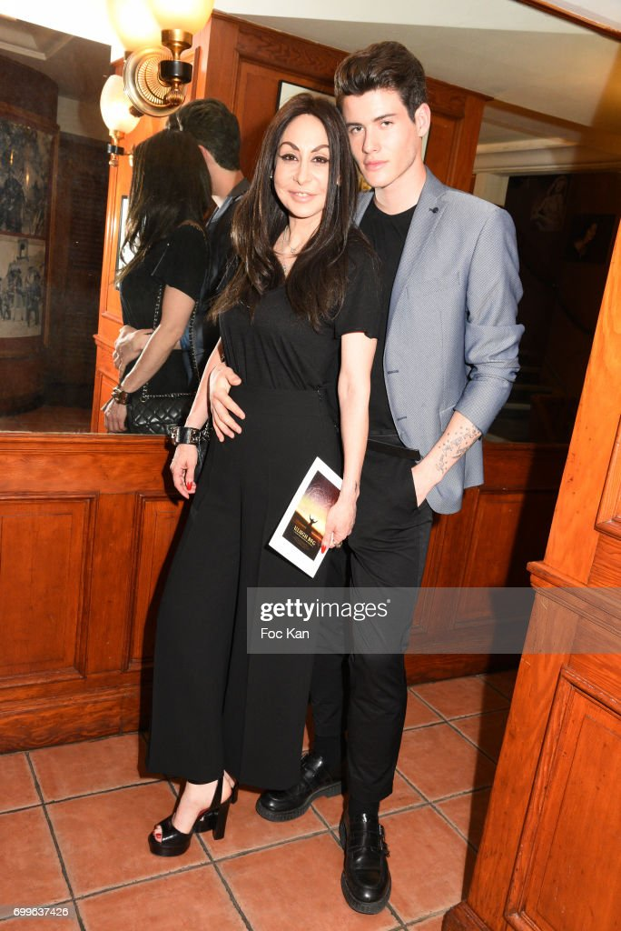 Stephanie Renoma and Raphael Say attend 'Ulugh Beg The Man Who Unlocked the Universe ' Screening Cocktail at Club 13 and Dinner at Hotel Hoche on June 21, 2017 in Paris, France.