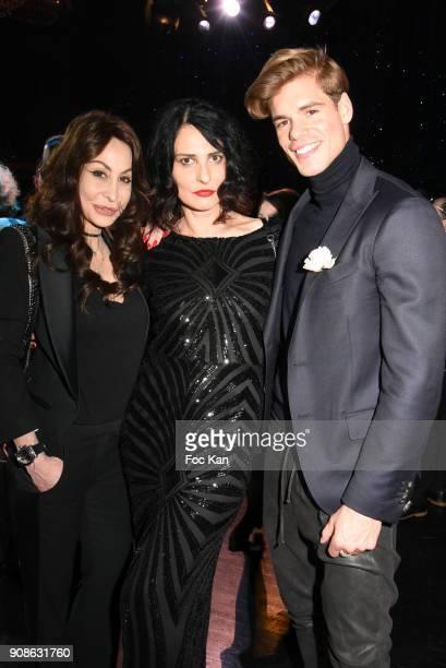 Stephanie Renoma Sylvie Ortega Munoz and Giovanni Bonamy attend the Top Model Belgium Awards 2018 Ceremony at the Lido on January 21 2018 in Paris...