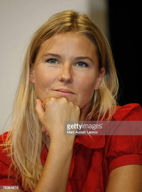 Stephanie Renouvin attends the French TV channel Canal press conference to announce the schedule for 2007/08 August 28 2007 at the Theatre du...