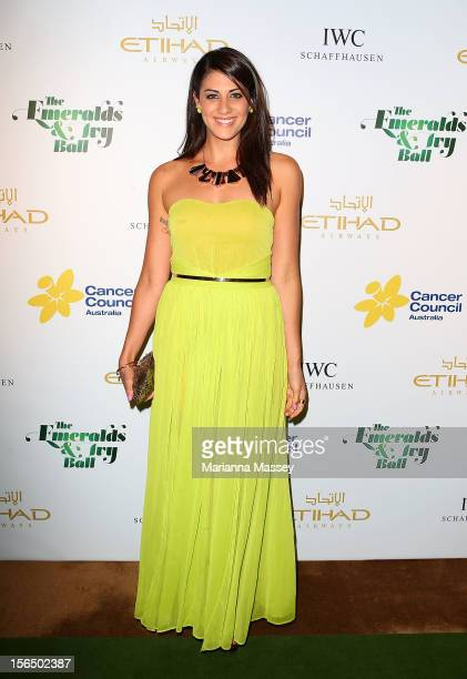Stephanie Rice arrives at The Ivy on November 16 2012 in Sydney Australia for the Emerald and Ivy Ball